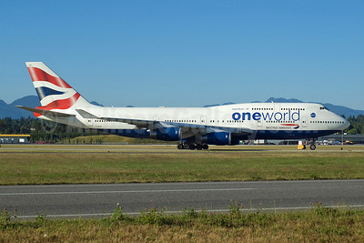 British Airways Boeing 747-436 G-CIVC (msn 25812) (Oneworld) YVR (Rob Rindt). Image: 923311.