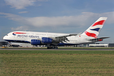 British Airways Airbus A380-841 G-XLEA (msn 095) LHR (Antony J. Best). Image: 922463.