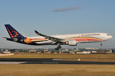 Brussels Airlines support of the Belgian Red Devils