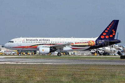 Brussels Airlines Airbus A320-214 OO-SNC (msn 1797) (Belgian Red Devils) LIS (Pedro Baptista). Image: 913836.
