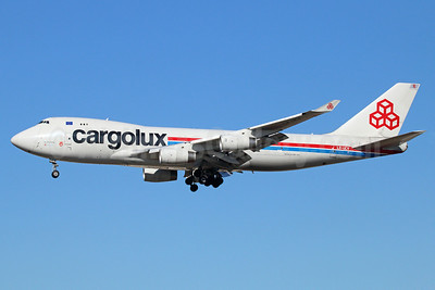 Cargolux Airlines International (Luxembourg) Boeing 747-4R7F LX-UCV (msn 33827) LAX (Michael B. Ing). Image: 922143.
