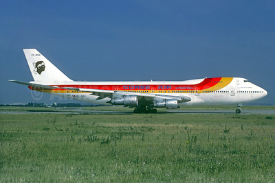 Corse Air 747 in hybrid Iberia livery
