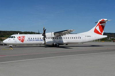 Czech Airlines ATR 72-212A (ATR 72-500) F-GRPK (msn 727) (90 Years - 1923-2013) ZRH (Rolf Wallner). Image: 922618.