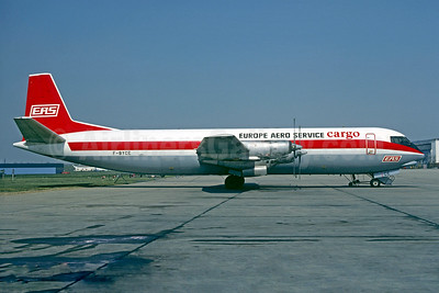 Europe Aero Service-EAS Cargo Vickers Vanguard 953C Merchantman F-BYCE (msn 716) (Air Canada colors) LBG (Christian Volpati). Image: 902946.