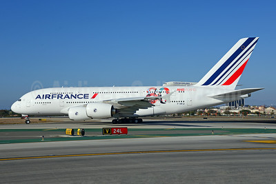 Air France Airbus A380-861 F-HPJI (msn 115) (80 ans-years) LAX (Ton Jochems). Image: 913848.