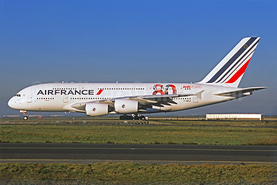 Air France Airbus A380-861 F-HPJI (msn 115) (80 ans-years) CDG (Christian Volpati Collection). Image: 924886.