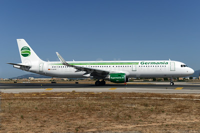 Germania's first fully-painted Airbus A321 with Sharklets