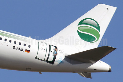 Germania Fluggesellschaft Airbus A319-111 D-AHIL (msn 3589) (See You in Kassel - Kassel Airport) PMI (Javier Rodriguez). Image: 9226634.