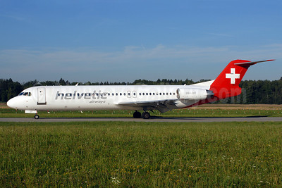 Helvetic Airways Fokker F.28 Mk. 0100 HB-JVF (msn 11466) ZRH (Rolf Wallner). Image: 920450.