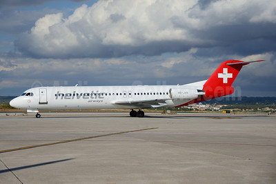 Helvetic Airways Fokker F.28 Mk. 0100 HB-JVH (msn 11324) PMI (Ton Jochems). Image: 920451.