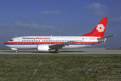 Norway Airlines Boeing 737-33A LN-NOS (msn 23830) ORY (Jacques Guillem). Image: 922308.