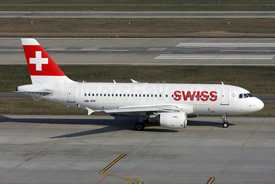 Swiss International Air Lines Airbus A319-112 HB-IPV (msn 578) ZRH (Andi Hiltl). Image: 922655.