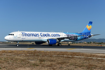 Thomas Cook Airlines (Thomas Cook.com) (UK) Airbus A321-211 WL G-TCDA (msn 2060) (Egypt - where it all begins) PMI (Ton Jochems). Image: 923334.