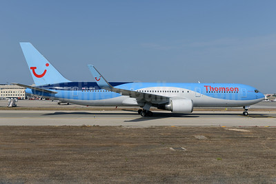 Thomson Airways Boeing 767-304 ER WL G-OBYG (msn 29137) PMI (Ton Jochems). Image: 923357.