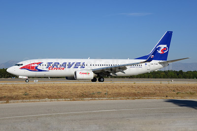 Travel Service Airlines (Czech Republic) Boeing 737-8FN WL OK-TVM (msn 37077) AYT (Ton Jochems). Image: 920776.