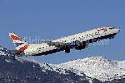 British Airways Boeing 737-436 G-DOCE (msn 25350) GVA (Paul Denton). Image: 905897.