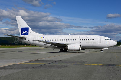 Scandinavian Airlines-SAS Boeing 737-505 LN-BUD (msn 25794) TRD (Ton Jochems). Image: 912519.
