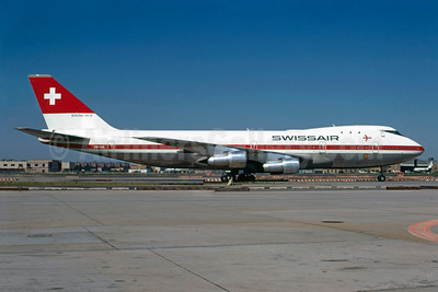 Swissair Boeing 747-257B HB-IGA (msn 20116) JFK (Bruce Drum). Image: 102782.
