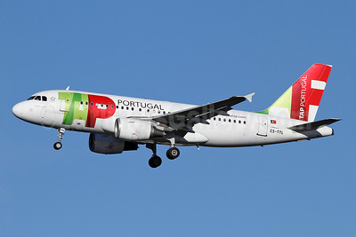 TAP-Air Portugal Airbus A319-111 CS-TTL (msn 1100) LHR (Keith Burton). Image: 910786.
