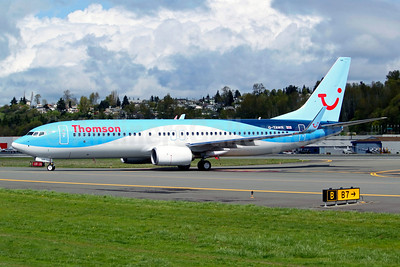Thomson Airways Boeing 737-8K5 WL G-TAWR (msn 37256) BFI (Joe G. Walker). Image: 911804.