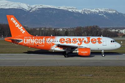 easyJet (UK) Airbus A319-111 G-EJAR (msn 2412) (Supporting UNICEF) GVA (Paul Denton). Image: 910991.