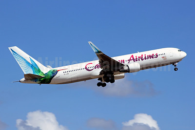 Caribbean Airlines Boeing 767-316 ER WL 9Y-LHR (msn 27597) (Celebrating 50 Years of Independence) POS (Nigel Steele). Image: 909663.