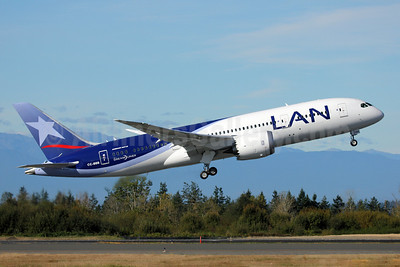 LAN Airlines (Chile) Boeing 787-8 Dreamliner CC-BBB (msn 38466) PAE (Nick Dean). Copyright Photo: 909430.