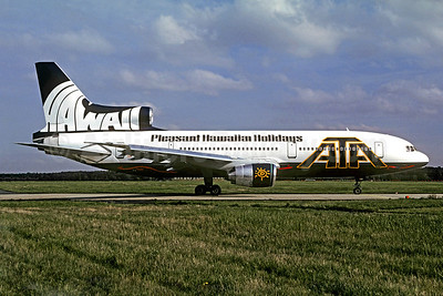 ATA Airlines (American Trans Air) Lockheed L-1011-385-3 TriStar 500 N163AT (msn 1229) (Pleasant Hawaiian Holidays - Hawaii) NUE (Christian Volpati Collection). Image: 921662.
