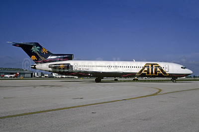 ATA Airlines (American Trans Air) Boeing 727-2B7 N770AT (msn 21953) MIA (Bruce Drum). Image: 102558.