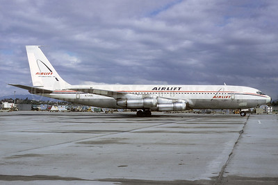 Airlift International Boeing 707-372C N739AL (msn 20077) LAX (Ted J. Gibson - Bruce Drum Collection). Image: 921335.