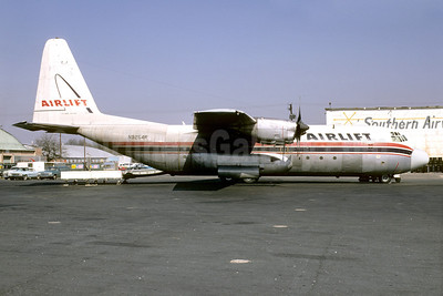 Airlift International Lockheed 382E (L-100-20) Hercules N9254R (msn 4222) ATL (Bruce Drum). Image: 103174.