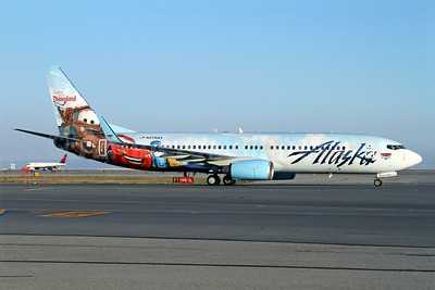 Alaska Airlines Boeing 737-890 WL N570AS (msn 35185) (Follow us to Disneyland Resort - Disney Cars) SFO (Mark Durbin). Image: 921236.
