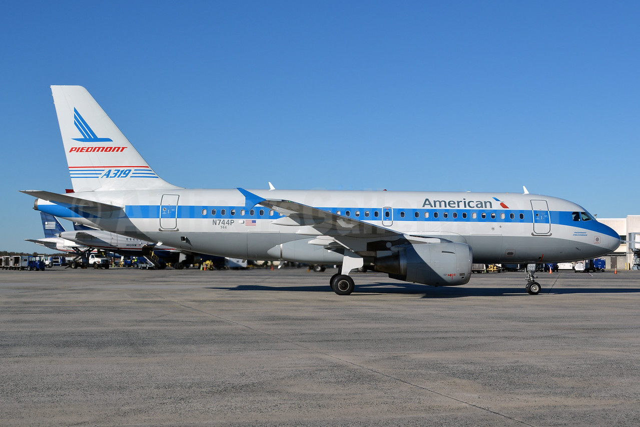 Now with American titles, US Airways' 1974 Piedmont retrojet