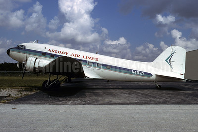Argosy Air Lines Douglas DC-3-277C N407D (msn 2244) (Flamingo Airlines colors) FXE (Bruce Drum). Image: 103386.