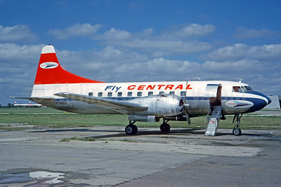Central Airlines Convair 240-26 N74853 (msn 164) DAL (Christian Volpati Collection). Image:  923301.