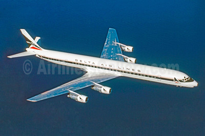 Delta Air Lines McDonnell Douglas DC-8-61 N822E (msn 45907) (Stephen Tornblom Collection). Image: 921239.