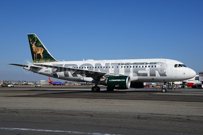 Frontier Airlines (2nd) Airbus A319-111 N918FR (msn 1943) (Whitetail Deer) LAX (Ton Jochems). Image: 921281.