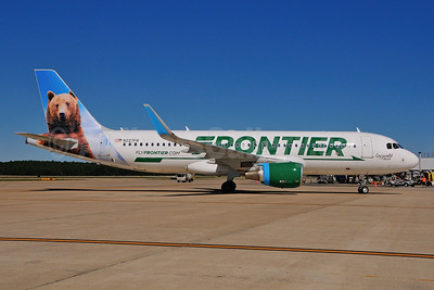Frontier Airlines (2nd) Airbus A320-214 WL N227FR (msn 6184) (Grizwald, the Bear) RDU (Ken Petersen). Image: 924938.