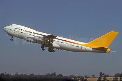Hawaii Express (The) Boeing 747-143 N355AS (msn 19729) LAX (Jacques Guillem Collection). Image: 927331.