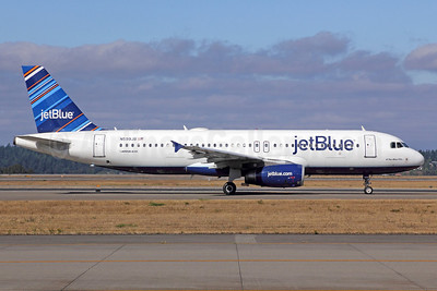 JetBlue Airways Airbus A320-232 N599JB (msn 2336) (Barcode) SEA (Michael B. Ing). Image: 922344.