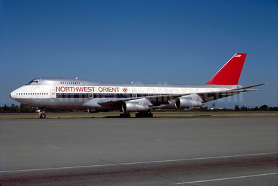 Northwest Orient Airlines Boeing 747-251B N626US (msn 21708) SEA (Bruce Drum). Image: 103164.