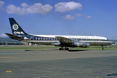 Overseas National Airways-ONA (1st) McDonnell Douglas DC-8F-55 Jet Trader N852F (msn 45856) LAX (Ted J. Gibson - Bruce Drum Collection). Image: 921347.
