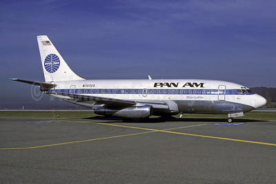 Pan Am (1st) Boeing 737-297 N70723 (msn 21739) ZRH (Rolf Wallner). Image: 920616.