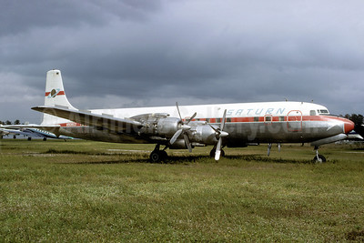 Saturn Airways Douglas DC-7C Seven Seas N90803 (msn 45111) MIA (Bruce Drum). Image: 103166.