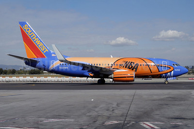 Southwest Airlines Boeing 737-7H4 WL N224WN (msn 32493) (Slam Dunk One) LAX (Roy Lock). Image: 910633.