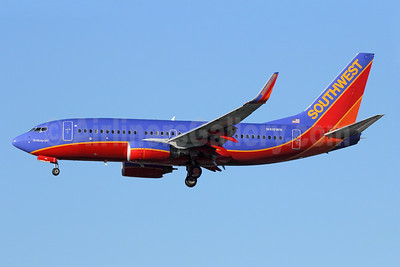 "Southwest Airlines Boeing 737-7H4 WL N418WN (msn 29823) ""The Winning Spirit"" LAX (Michael B. Ing). Image: 921542."
