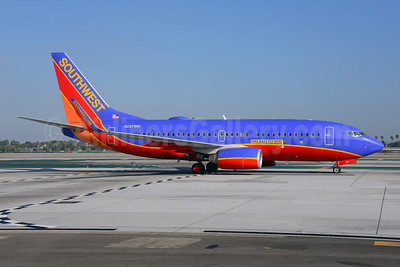 Southwest Airlines Boeing 737-7H4 WL N237WN (msn 34632) (Free Bags Fly Here) LAX (Ton Jochems). Image: 921298.