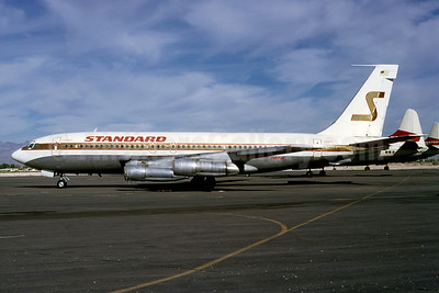 Standard Airways (1st) Boeing 707-138B N790SA (msn 17697) LAS (Ted J. Gibson - Bruce Drum Collection). Image: 921290.