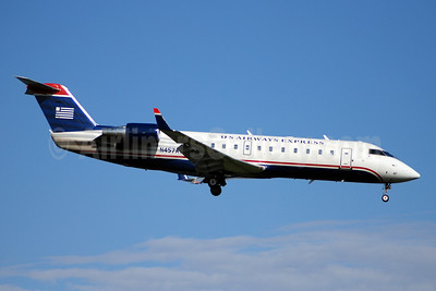 US Airways Express-Air Wisconsin Bombardier CRJ200 (CL-600-2B19) N457AW (msn 7854) DCA (Bruce Drum). Image: 100879.