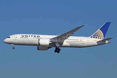United Airlines Boeing 787-8 Dreamliner N27908 (msn 36400) LAX (Michael B. Ing). Image: 922172.